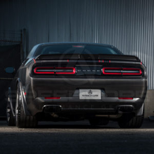 carbon fiber dodge challenger carbon fiber decklid trunklid rear view