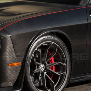 carbon fiber dodge challenger carbon fiber front fender close