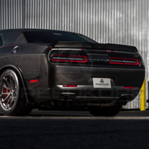 carbon fiber dodge challenger carbon fiber rear bumper rear quarter view