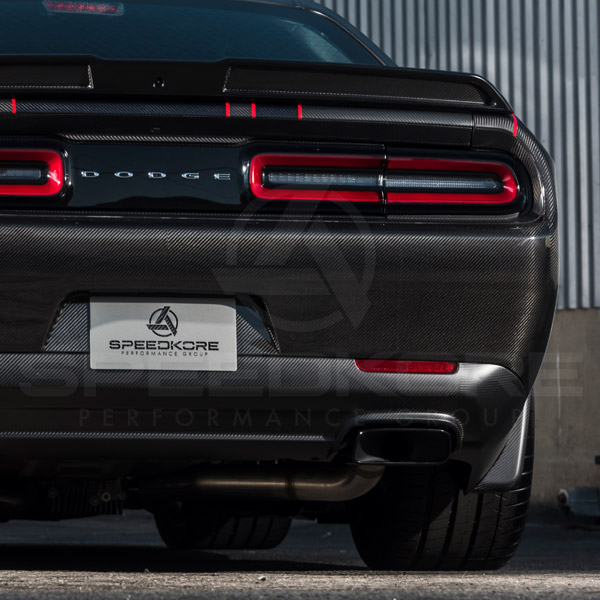 carbon fiber dodge challenger carbon fiber rear bumper close