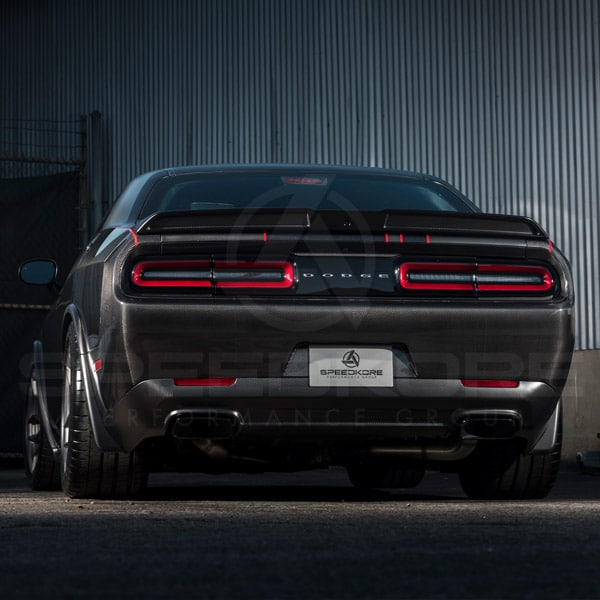 speedkore carbon fiber dodge challenger rear spoiler far