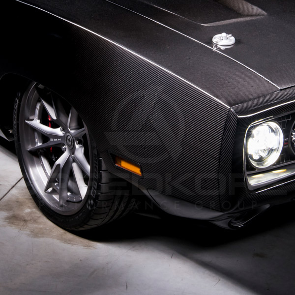 speedkore carbon fiber dodge charger carbon fiber side markers front quarter close view