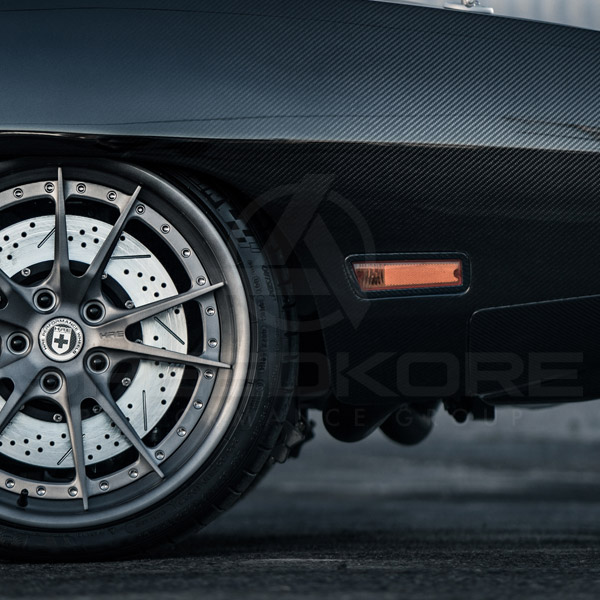 speedkore carbon fiber dodge charger carbon fiber side markers side view
