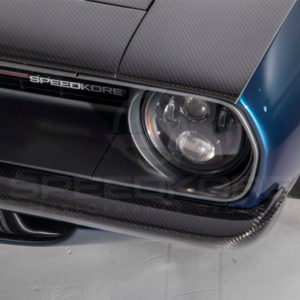 speedkore blue 1970 plymouth barracuda carbon fiber front bumper close