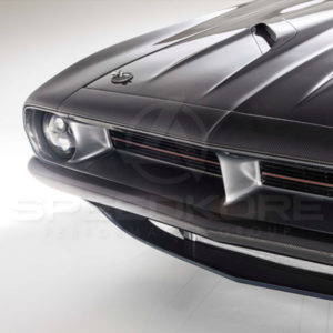 Plymouth Barracuda, Plymouth Cuda, Front Bumper, Bumper, Carbon Fiber, CarbonFiber, SpeedKore, 1970 Plymouth Barracuda, 1971 Plymouth Barracuda