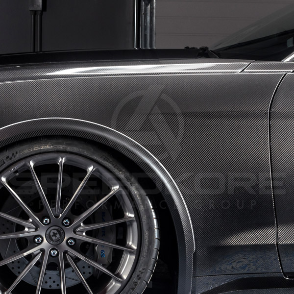 speedkore carbon fiber ford mustang carbon fiber fenders side view