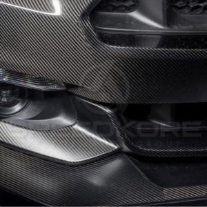 speedkore carbon fiber ford mustang carbon fiber front splitter close