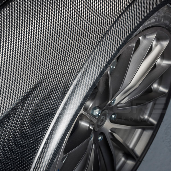 speedkore carbon fiber ford mustang carbon fiber speed flares close