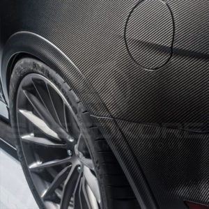 speedkore carbon fiber ford mustang carbon fiber speed flares close view