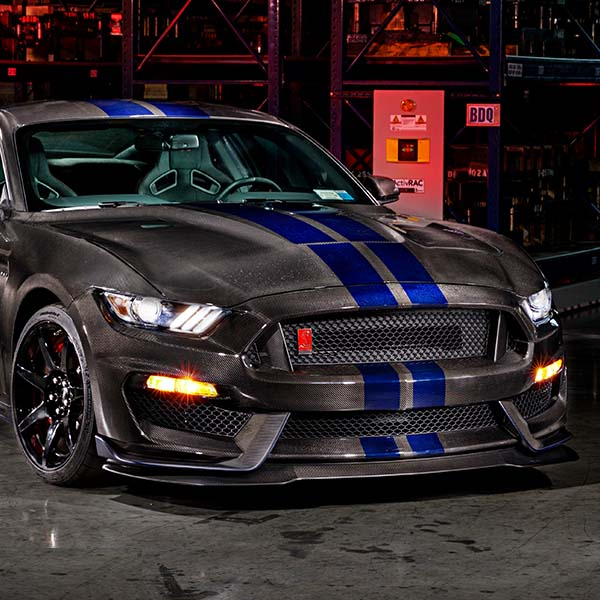 speedkore carbon fiber ford mustang gt350 front view