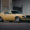 1970 yellow ford mustang boss 302 front quarter view passenger slideshow