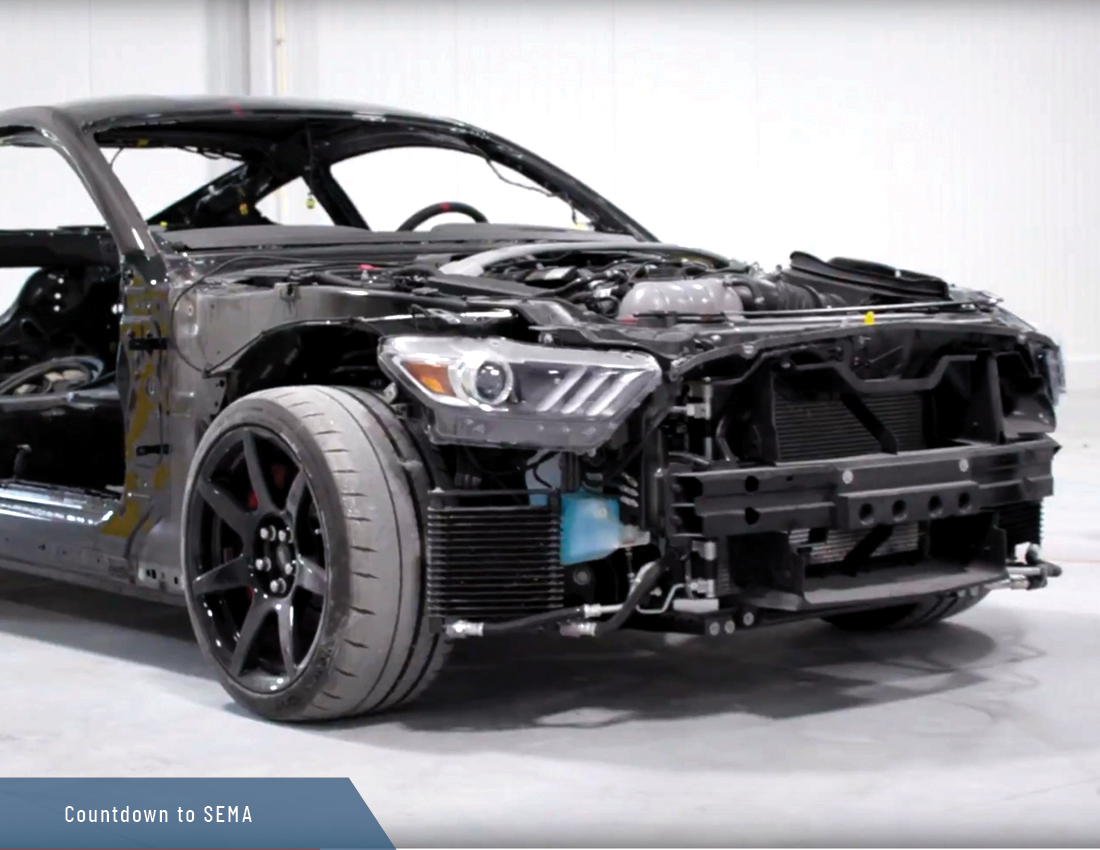 sema 2018 speedkore carbon fiber ford mustang gt350r timelapse front view